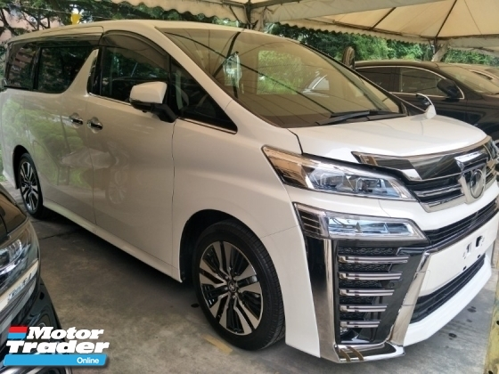 2018 TOYOTA VELLFIRE 2.5 ZG NFL SUNROOF LANE ASSIST PRE CRASH STOP SYSTEM 360 SURROUND CAMERA AUTO CRUISE FREE WARRANTY