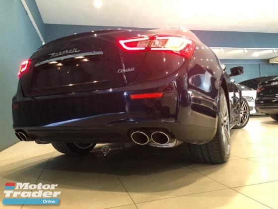 2014 MASERATI GHIBLI S *(IMPORT NEW CAR FROM NAZA)* (OTR) 3.0L V6 TWIN Turbocharged. 410BHP / 550Nm. SUNROOF. Ori MILEAGE. FULL Spec. BMW M5. M.BENZ E63.
