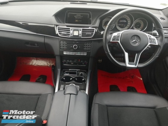 2014 MERCEDES-BENZ E-CLASS E250 AMG CLEAR STOCK UNIT WHITE & BLACK