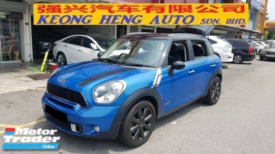 2012 MINI Cooper S COUNTRYMAN 1.6cc (A) REG 2012, ONE CAREFUL OWNER, FULL SERVICE RECORD, LOW MILEAGE DONE 49K KM, FREE 1 YEAR GMR CAR WARRANTY, 18\