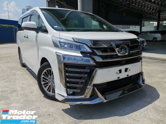 2018 TOYOTA VELLFIRE 3.5 EXECUTIVE LOUNGE Z FULL SPEC WHITE OFFER UNREG