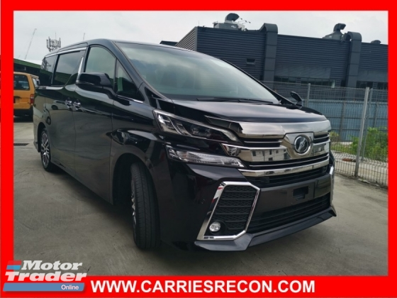 2016 TOYOTA VELLFIRE 2.5ZG Edition (ALPINE PLAYER, LARGE REAR MONITOR) - UNREG JAPAN