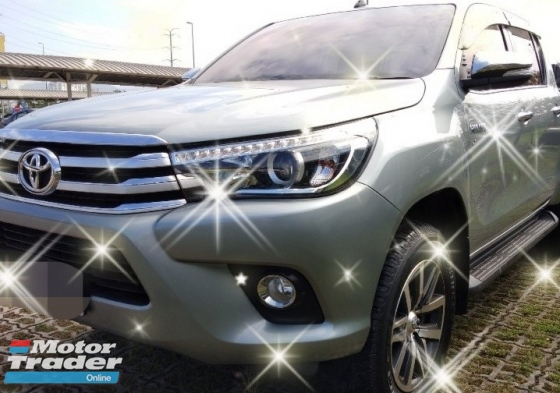 2016 TOYOTA HILUX 2.8G VNT AT 4x4 Diesel on thr road~RM97,888 instalment rm1,090months👍😊