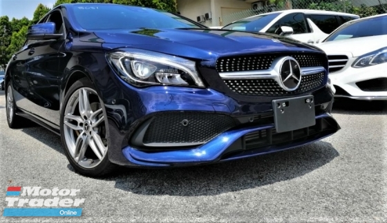 2017 MERCEDES-BENZ CLA 180 AMG FACELIFT 1.6L + UNREGISTERED JAPAN PREMIUM SPECS +RARE CAVANSITE BLUE