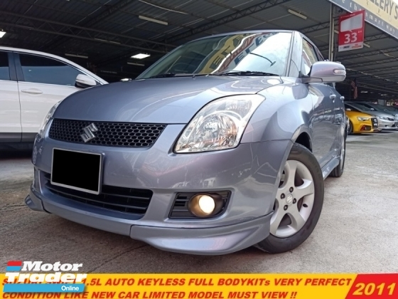 2011 SUZUKI SWIFT 1.5 AT FACELIFT KEYLESS FULL BODYKITs LIKE NEW CAR