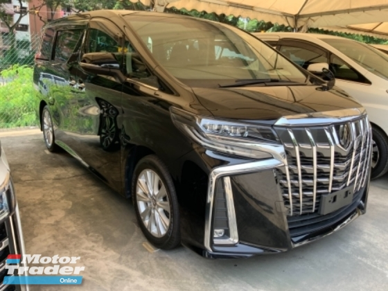 2018 TOYOTA ALPHARD 2.5 S facelift sunroof power boot surround camera 2 power doors precrash system unregistered