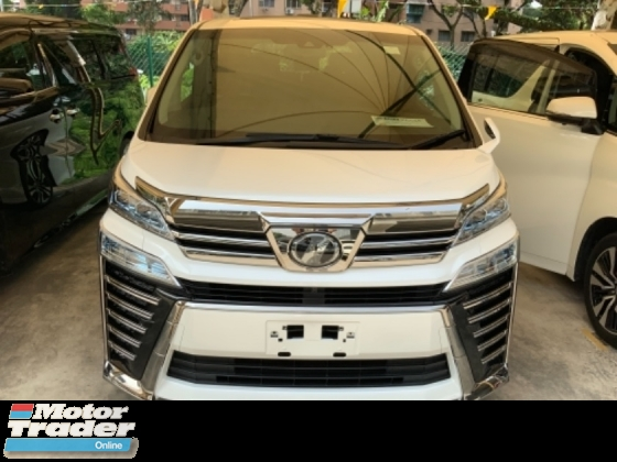 2018 TOYOTA VELLFIRE 2.5 ZG sunroof power boot 4 camera precrash system facelift leather pilot seat