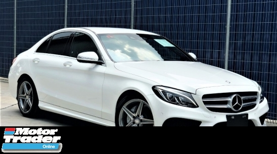 2016 MERCEDES-BENZ C-CLASS C180 AMG LINE + UNREGISTERED JAPAN SPECS PREMIUM SELECTION CAR + WHITE COLOR