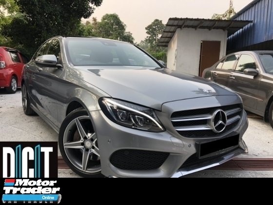2016 MERCEDES-BENZ C-CLASS AMG LINE UNDER WARRANTY SUPER ORI LOW MILEAGE FULL SERVICE RECORD PAN ROOF AMG SUSPENSION