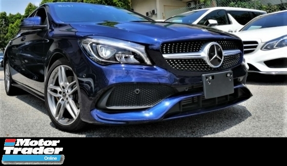 2017 MERCEDES-BENZ CLA 180 AMG SPORT PACKAGE + 1.6L + UNREGISTEREDJAPAN PREMIUM SPECS + RARE CAVANSITE BLUE COLOR