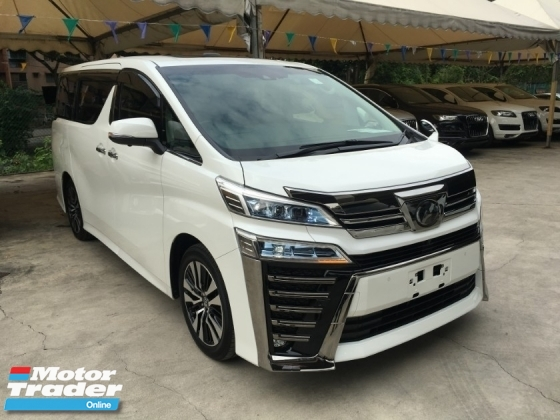 2018 TOYOTA VELLFIRE 2.5ZG Edition ZG MPV LEATHER P\\CRS SUN ROOF POWER BOAT FULL VIEW CAM