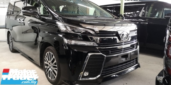 2016 TOYOTA VELLFIRE ZG 2.5CC / SUNROOF / ALPHINE / PRE-CRASH / ORIGINAL MILEAGE TIPTOP CONDITION STOCK / 4 YEARS WARRANT