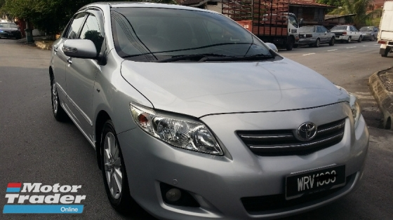 2008 TOYOTA ALTIS 2008 Toyota Altis 1.8G (A) Facelift King condition