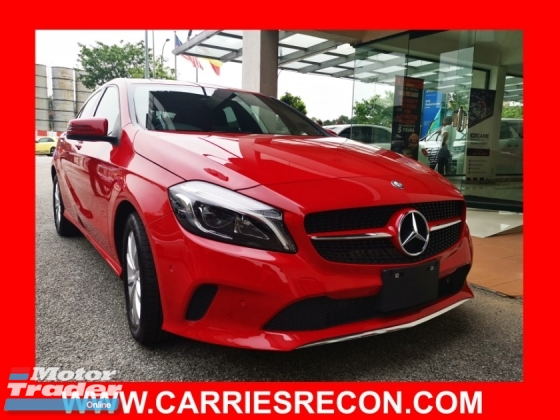 2016 MERCEDES-BENZ A-CLASS A180 NEW FACELIFT WITH PUSH START/KEYLESS ENTRY - UNREG JAPAN
