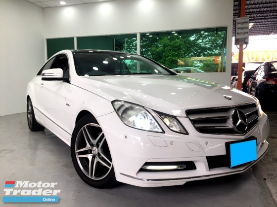 2011 MERCEDES-BENZ E-CLASS E250 CGI COUPE 1.8 SUNROOF WITH NICE NUMBER PLATE 60