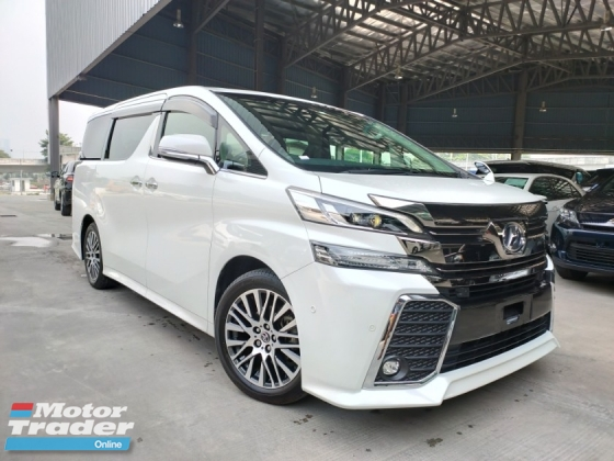 2015 TOYOTA VELLFIRE 2015 Toyota Vellfire 2.5 ZG JBL Home Theatre Sound System Pilot Seat Power Boot Unregister for sale