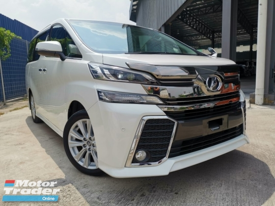 2015 TOYOTA VELLFIRE 2.5 Z WHITE SUPER OFFER UNREG