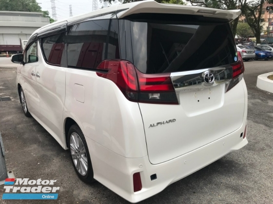 2015 TOYOTA ALPHARD 2.5 SA Edition SPEC -ALPINE DVD , ALPINE ROOF MONITOR , PRE-CRASH [ MERDEKA SPECIAL PROMOTION GUARANTEE LOWEST PRICE IN TOWN ] 4 YEARS WARRANTY CALL ME FOR BEST DEAL
