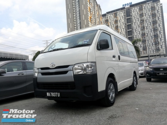 2015 TOYOTA HIACE 2.5 (M) EXCELLENT CONDITION ** HIGH LOAN AVAILABLE ** SPECIAL PROMOTION ** ** WINDOW VAN **