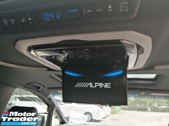 2016 TOYOTA ALPHARD 2.5 S TYPE BLACK SUNROOF ALPINE UNREGISTERED