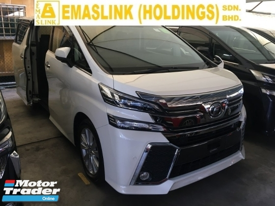 2016 TOYOTA VELLFIRE 2.5 ZA Edition 2.5 ZA EDITION MPV SUN ROOF POWER BOAT FULL VIEW CAMERA P/CRAS