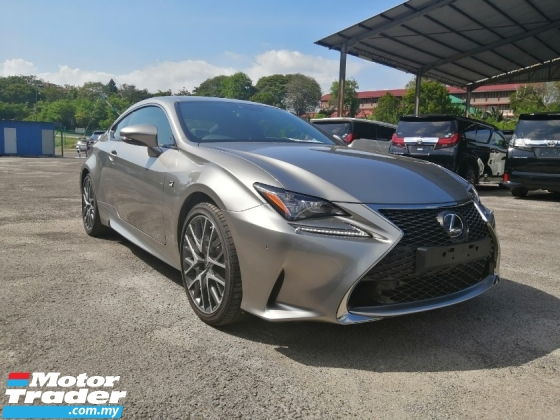 2016 LEXUS RC 200t F-Sports Package Sunroof Like New Car Unreg