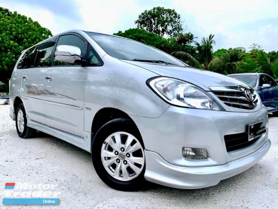 2012 TOYOTA INNOVA 2.0 G (A) 1 OWNER FULL SPEC TIP-TOP CONDITION