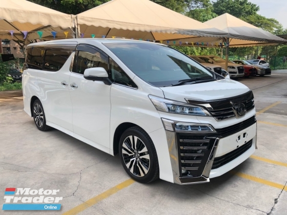 2018 TOYOTA VELLFIRE 2.5 ZG New Facelift LED Running Adaptive LED Rear Camera Mirror Sun Roof Moon Roof 360 Surround Camera Pilot Memory Full Leather Seat Power Boot 2 Power Doors Pre-Crash LDA RSA 9 Air Bags Unreg