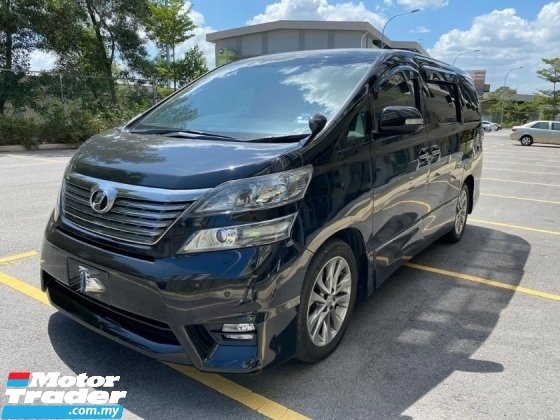 2011 TOYOTA VELLFIRE 2.4Z PLATINUM SELECTION II MPV POWER BOOT FACELIFT LOW MILEAGE TIPTOP RARE IN MARKET