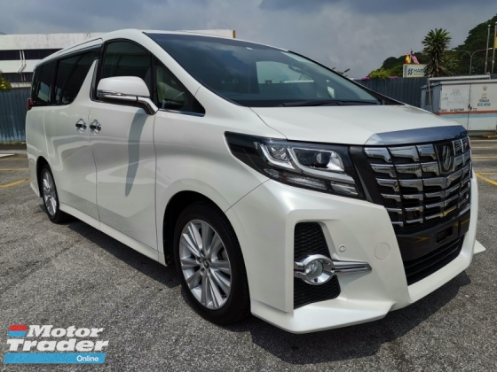 2015 TOYOTA ALPHARD 2.5 SA JBL HT 4Cam SR Pre Crash Unreg Sale Offer