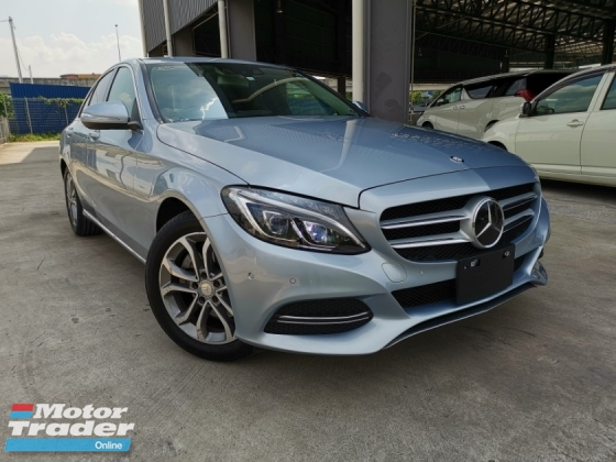 2014 MERCEDES-BENZ C-CLASS C200 AVANTGARDE SILVER BLUE OFFER UNREG