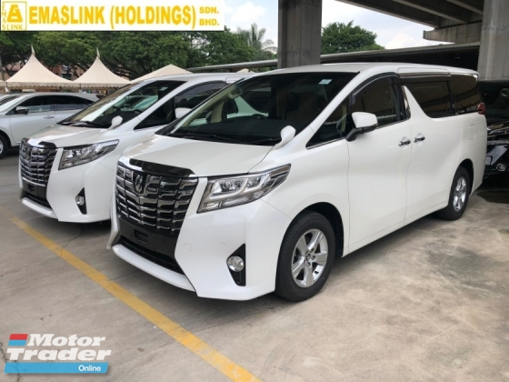 2015 TOYOTA ALPHARD 2.5 2AR-FE Dual VVT-i 360 View Surround Camera Automatic Power Boot 2 Power Door Intelligent Bi LED Smart Entry Push Start 3 Zone Climate Control 9 Air Bag Unreg