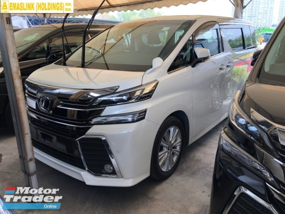 2016 TOYOTA VELLFIRE 2.5 ZA 360 Surround Camera 7 Seat Automatic Power Boot 2 Power Door Intelligent Bi LED Smart Entry Push Start 3 Zone Climate Auto Cruise Multi Function Steering Bluetooth Connectivity 9 Air Bag Unreg