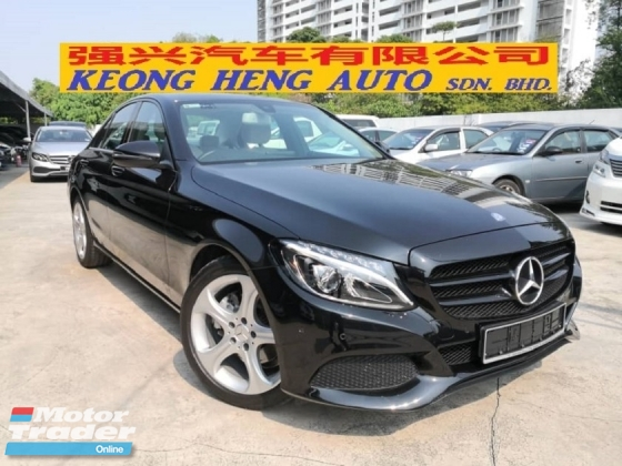 2017 MERCEDES-BENZ C-CLASS C200 CKD Avantgarde TRUE YEAR MADE 2017 Mil 27k km Service Hap Seng Under Warranty 3.2020