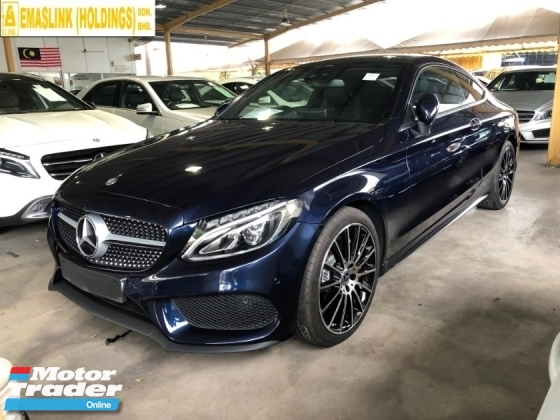2017 MERCEDES-BENZ C-CLASS C300 C200 AMG Coupe 2.0 Turbocharged 9G-Tronic 241hp Fully Loaded Panoramic Roof Memory Seat Burmester 3D Sound Smart Entry Automatic Power Boot Intelligent Bi-LED Paddle Shift Bluetooth Connectivity Unreg