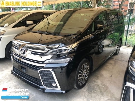 2016 TOYOTA VELLFIRE 2.5 ZG Alpine Full Set 360 Surround Camera Memory Pilot Seat Automatic Power Boot 2 Power Doors Intelligent Bi-LED Smart Entry Push Start 3 Zone Climate Roller Blind Auto Lights Wiper 9 Air Bags Unreg