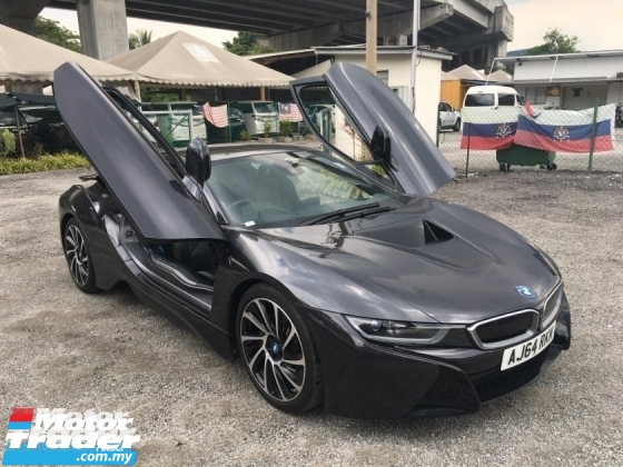 2016 BMW I8 1.5 e-Drive L3 Turbocharged + Hybrid 360 Surround Camera Harman Kardon Surround Head Up Display Adaptive Intelligent LED Multi Function Paddle Shift Steering Drive Selection Pre Collision Safety Unreg