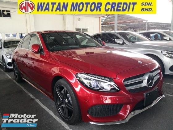 2015 MERCEDES-BENZ C-CLASS C180 1.6 AMG KEYLESS PUSH START PRE CRASH JAPAN UNREG