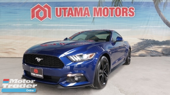 2016 FORD MUSTANG 2.3 ECO BOOST FULL LEATHER SEATS SHAKER PREMIUM SOUND HARGA RUNTUH MAX LOAN FAST APPROVAL