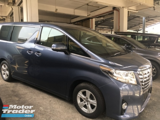 2014 TOYOTA ALPHARD X SPEC LARGE MPV 1 POWER DOOR CAMERA