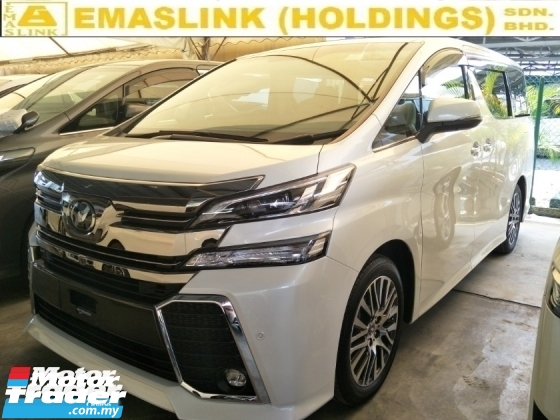 2017 TOYOTA VELLFIRE 2.5 ZG FULL SPEC JBL SYSTEM PRE CRASH STOP SYSTEM SUNROOF 360 SURROUND CAMERA FREE WARRANTY