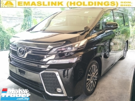 2017 TOYOTA VELLFIRE 2.5 ZG SUNROOF MOONROOF 360 SURROUND CAMERA AUTO CRUISE 18 PREMIUM SPORT RIM FREE WARRANTY