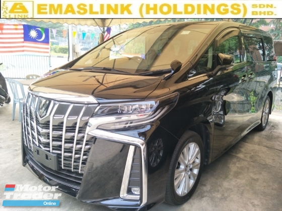 2018 TOYOTA ALPHARD 2.5 S 7 SEATER POWER BOOT 360 SURROUND CAMERA 2 POWER DOOR FREE WARRANTY LOCAL AP