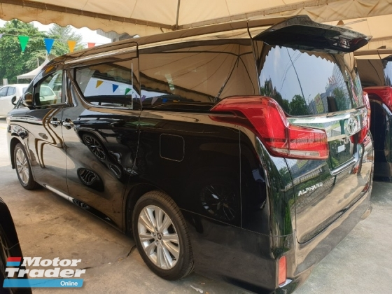2018 TOYOTA ALPHARD S Spec 7 Seater 2 Power Door Power Boot Surround Camera Sunroof Local AP Unreg