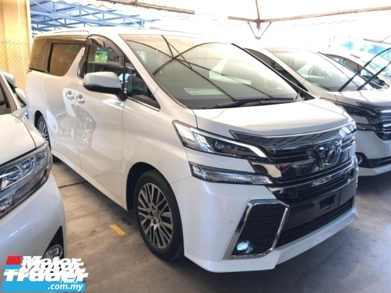 2017 TOYOTA VELLFIRE 2.5 ZG Fully Loaded JBL Home Theater 360 Surround Camera Sun Roof Moon Roof Pilot Memory Seat Pre-Crash Radar 3 Zone Climate Power Boot 2 Power Doors Bi-LED 9 Air Bags Unreg