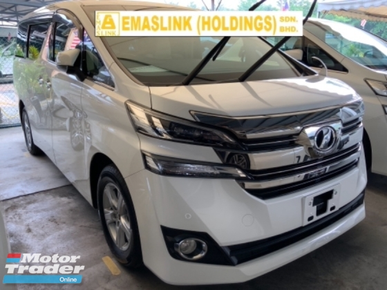 2016 TOYOTA VELLFIRE 2.5X 8 seaters power door back camera multifunction steering push start keyless entry unregistered