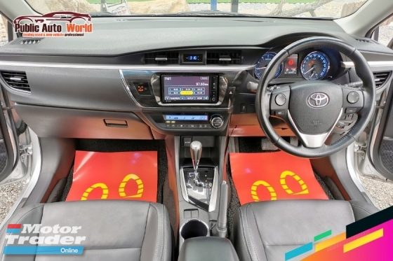 2014 TOYOTA ALTIS V 2.0 BKIT LEATHER PStart DVDV 2.0 BKIT LEATHER PStart DVD