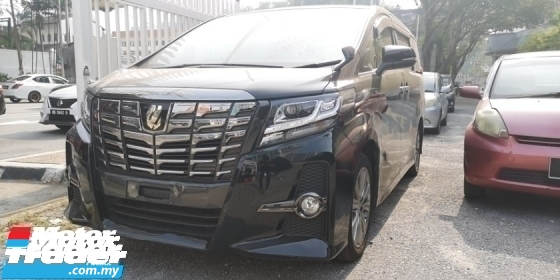 2016 TOYOTA ALPHARD SA TYPE BLACK 2.5 / SUNROOF / TIPTOP CONDITION FROM JAPAN / ALPHINE