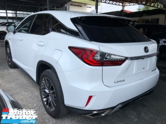 2017 LEXUS RX RX200t F Sport 2.0 Turbo Original 360 Surround Camera Pre-Crash Head Up Display HUD Intelligent Running Full-3LED Lights Lane Departure Assist Multi Function Paddle Shift Steering Smart Entry Lane Departure Assist Aircon-Vent Seats Bluetooth Unreg