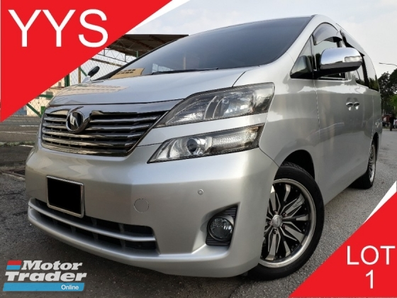2009 TOYOTA VELLFIRE REG 13 2.4 (A) MPV KEPT WELL 1 CAREFUL OWNER VERY LOW MILEAGE ACC FREE CLEAN INTERIOR GOOD CONDITION PROMOTION PRICE.
